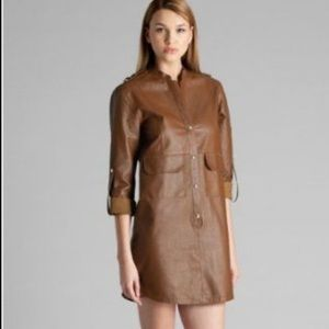 Marciano 100% leather shirt dress